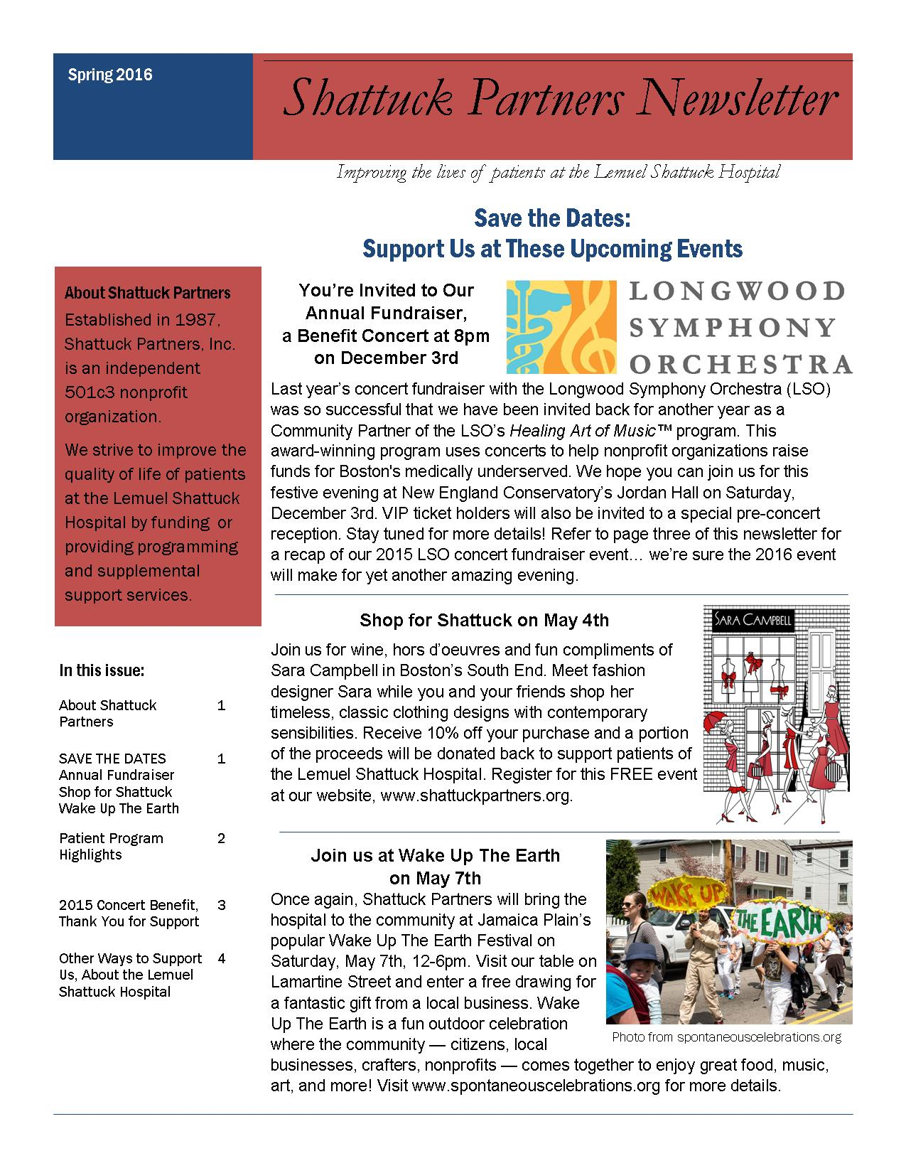 Shattuck Partners Spring Newsletter